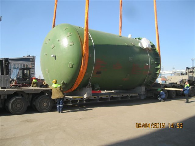 On 11th April 2019 Receipt of Heavyweight Equipment for 2nd Construction Stage of Kudankulam NPP (India)at the Port of Saint Petersburg was Completed.
