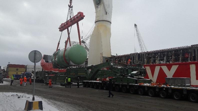 Завершена доставка основного объема оборудования для строительства АЭС «Белене» в Болгарии.