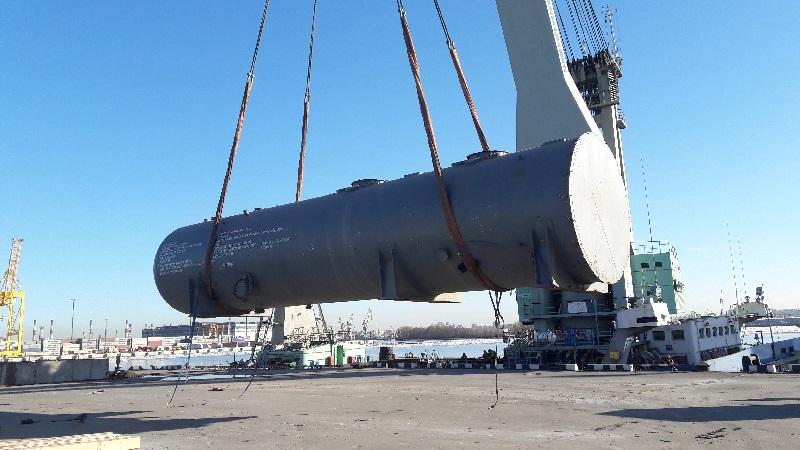 16 апреля 2018 года из порта Санкт-Петербург отгружена 4-ая судовая партия оборудования для строительства 2-ой очереди АЭС «Куданкулам», Индия.