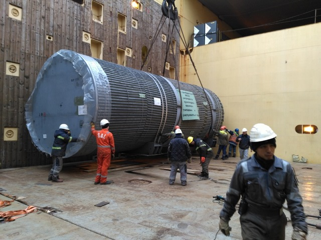 The 12th Lot for the Second Construction Stage of Nuclear Power Plant in China has been shipped from the Port of Saint Petersburg.